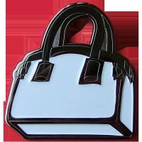 Tussi-Tasche Geocoin in weiß