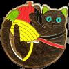 Bundle Cute CacheCat II  Geocoin XLE & TB Logger Travelbug
