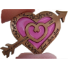 Love  Geocoin ver 4 Pink Antik Gold